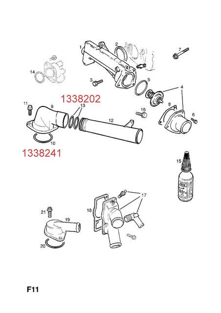 Уплотнительное кольцо (сальник, прокладка) трубки охлаждения к корпусу термостата C25XE X25XE X30XE Y26SE Y32SE Z32SE OPEL CALIBRA OMEGA-B SIGNUM