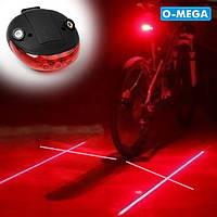 Велосипедный фонарь + лазер KK-9300, фото 1