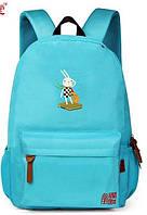 Рюкзак школьный для девочки с вышивкой зайка