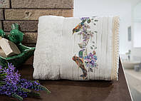 Полотенце махровое для лица и рук хлопок/бамбук Milana  50*90.