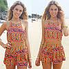 Стильный комплект для пляжа комбинезон топ и шорты, фото 2