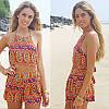 Стильный комплект для пляжа комбинезон топ и шорты, фото 3