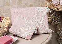 Полотенце махровое банное хлопок/бамбук Nora pink 90*150.