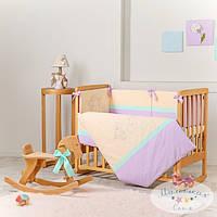 Набор в детскую кроватку Funny Bunny фиолетовый (6 предметов), фото 1
