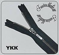Молния неразъемная металлическая №3 YKK длина 50см темный никель