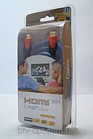 HDMI кабель 2м для ТВ и видео электроники с золотым напылением, кабель для интернета, ТВ