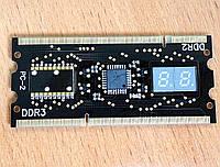 POST карта для ноутбуков ASUS. Устанавливается в слот памяти DDR2/3.