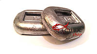 Анатомические свинцовые груза для подводной охоты, вес 1 кг