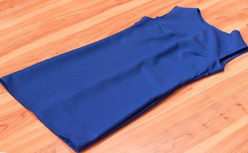 Летнее платье Футляр из габардина, фото 2
