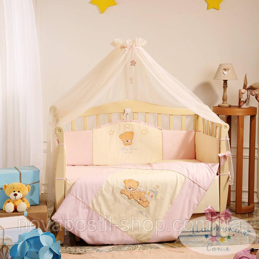 Набор в детскую кроватку Tiny Love розовый (7 предметов)