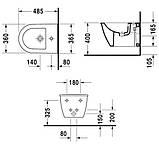 Биде подвесное Duravit Darling New 48 см, фото 2
