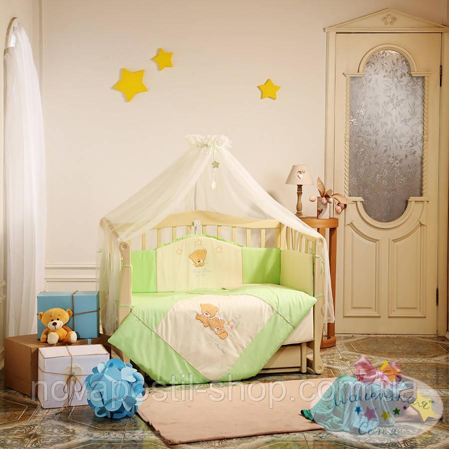 Набор в детскую кроватку Tiny Love салатовый (7 предметов)