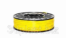 Нить ABS (АБС) пластик для 3D принтера, 1.75 мм, 0,75 кг. желтый