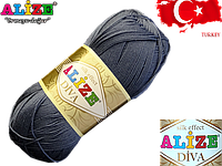 Пряжа Alize Diva 353 серый