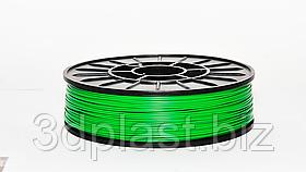 Нитка ABS (АБС) пластик для 3D принтера, 1.75 мм, зелений