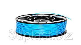 Нитка ABS (АБС) пластик для 3D принтера, 1.75 мм, блакитний