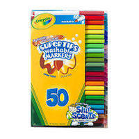 Фломастеры смываемые with Silly Scents Washable 50 цветов, Crayola (Крайола)