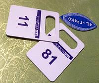 Гардеробные номерки с прямой печатью