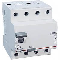 Устройство защитного отключения (УЗО) 4 полюса 63А 30мА тип АС Legrand серии RX3
