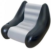 Велюровое надувное кресло Bestway102-86-74 см  с встроенным подстаканником