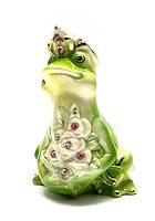 Статуэтка фарфор лягушка царевна в стразах
