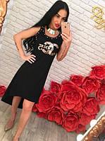 Платье Шанель с рисунком