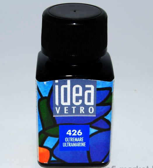 Витражная краска Идея Ветро Idea Vetro Ультрамарин 426 (60 мл),Maimeri,Италия.