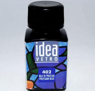 Витражная краска Идея Ветро Idea Vetro Прусский синий 402 (60 мл),Maimeri,Италия.