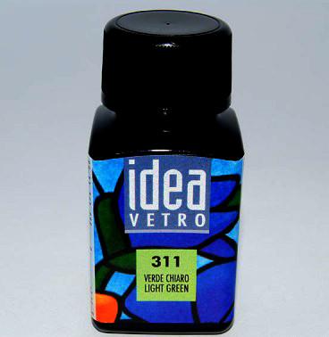 Витражная краска Идея Ветро Idea Vetro Светло-зеленый 311 (60 мл),Maimeri,Италия.