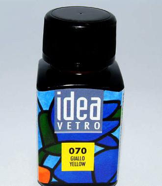 Витражная краска Идея Ветро Idea Vetro Желтый 070 (60 мл),Maimeri,Италия.