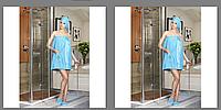 Женский махровый  набор для сауны с тапочками Махровый женский набор для сауны, Philippus, Турция