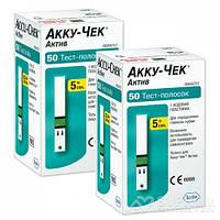 Тест-полоски Accu-Chek Active (Акку-Чек Актив) 100 шт, 2 уп.