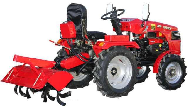 Мототрактор ДВ 150 RX (DW 150 RX ) +фреза + плуг , Трактор Гарантія ,