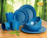 Набор столовой посуды из бамбука для отдыха