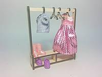 Кукольная мебель Гардероб для кукол 5-7 см (под роспись, декупаж), фото 1