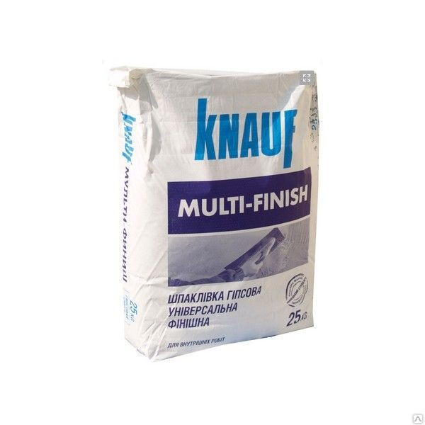 Кнауф Мультифиниш тонкослойная гипсовая шпаклевка (25кг).