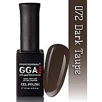 Гель-лак GGA Professional №72  Dark Taupe  10 мл.
