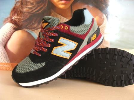 Мужские кроссовки для бега New Balance 574 (реплика) черный/хаки 45 р.