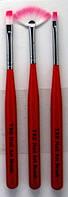Набор кистей синтетический для дизайна ногтей YRE Юж. Корея 3 шт