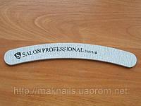 """Пилка """"Salon professional""""-серая, бумеранг, 100/100"""