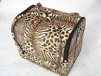 Бьюти-кейс. сумка для мастеров индустрии красоты с леопардовым принтом