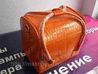 Бьюти-кейс. сумка для мастеров индустрии красоты, Цвет оранжевый, лак., фото 1