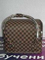 Бьюти-кейс. сумка для мастеров индустрии красоты. Цвет -коричневый.