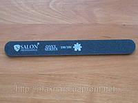 """Пилка """"Salon professional""""-черная,прямая,100/100 грид"""