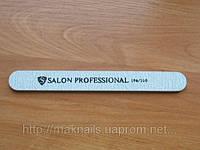 """Пилка """"Salon professional""""- серая ,прямая,100/100 грид"""