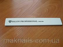"""Пилка """"Salon professional""""- белая, широкая прямая, 100/100 грид"""