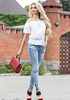 Нежная Летняя Блуза из Батиста с Рюшами Белая