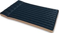 Полуторный надувной матрас тканевый 193 х 127 см