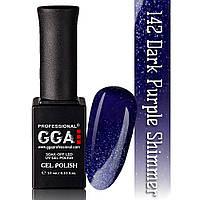 Гель-лак GGA Professional №142 Dark Purple Shimmer   10 мл.