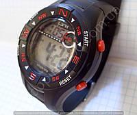 Мужские часы  iTaitek 1079 черные с красным календарь подсветка в коробке артикул 114140